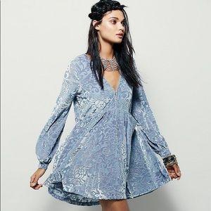 Free people all night long velvet mini dress